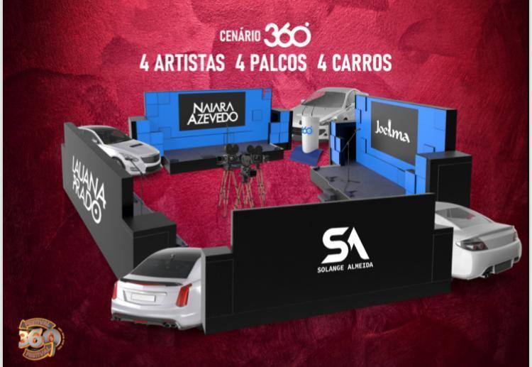 Festival 360° reúne Joelma, Naiara Azevedo, Lauana Prado e Solange  Almeida em uma única live no sábado